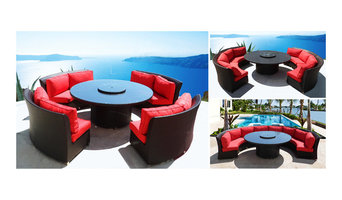 Patented Cassandra Outdoor Wicker Sectional Sofa & Dining in One Patio Furniture