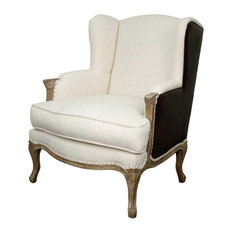 New Pacific Direct Inc. - Marie Wingback Chair, Cereal and Vintage Coffee - Armchairs and Accent Chairs