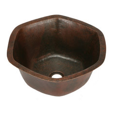 Hexagon Copper Bar Sink by SoLuna, Matte Copper