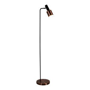 Denmark Single Floor Lamp, Black Antique Copper