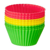 Red Light, Green Light Silicone Baking Cups, Set of 18