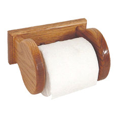 Amish Made Oak Wall Mounted Toilet Paper Holder