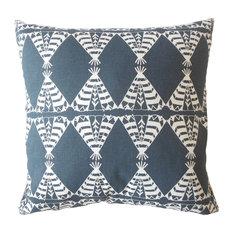 "Eamhair Graphic Down Filled Throw Pillow, Blue, 22""x22"""