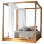 MASHstudios - PCH Series Canopy Bed, King - With its minimalist approach and ulta clean lines, the PCHseries Canopy Bed offers a secluded and dreamy place to rest.