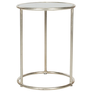 Safavieh Caitlin Accent Table, Silver and White