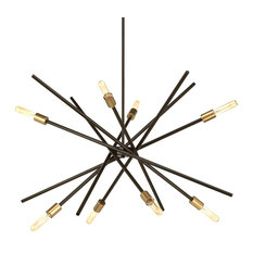 Luxury Modern Chandelier, Miami Series, Olde Bronze
