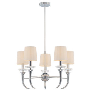 Savoy House Europe Carla Chandelier, White, 5 Lights
