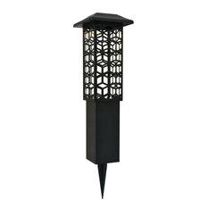 """Elegant Lighting LDOD3014-2PK Astral 7""""W Solar LED Center Mount - Black"""