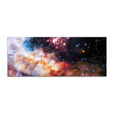 Celestial Fireworks, Reverse-Print Acrylic Outer Space NASA Art