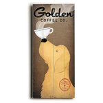 """ArteHouse - Golden Coffee Co Wood Sign, 10""""x24"""", Planked - Artehouse wood signs add a touch of character to any room. Great for the cabin, beach house, winter chalet, kids room, game room, garage, kitchen or any room. Perfect as gifts to visitors or as a memento of places seen and loved. The sign comes ready to put on your wall with a saw tooth hanger. The sign is hand distressed to add to the vintage appeal. The image is printed directly unto the wood in a UV based archival quality ink to ensure fade resistance and last a lifetime."""
