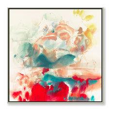 """""""Horizon"""" Hand Embellished Giclee, 30""""x30"""""""