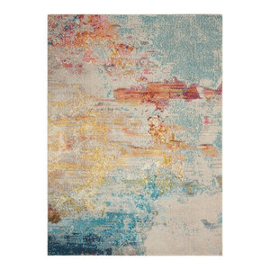 "Nourison Celestial Contemporary Area Rug, Multicolor, 7'10""x10'6"""
