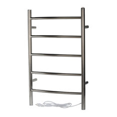 Modern Wall Mounted Towel Warmer, Polished Stainless Steel