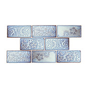 "3""x6"" Antiguo Feelings Ceramic Wall Tiles, Set of 8, Via Lactea"