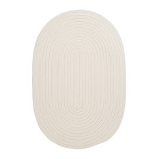 Colonial Mills, Inc - Colonial Mills Boca Raton Decorative White Braided Rug, 10'X13' - Outdoor Rugs