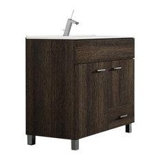 TEGLER,SL   Hayes Samos Bathroom Vanity, Dark Oak, 80 Cm   Bathroom