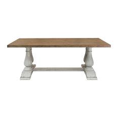 Light Oak Pedestal Dining Table, Base Only