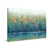 """Wildflower Reflection II"" Painting Print on Wrapped Canvas, 60""x40"""