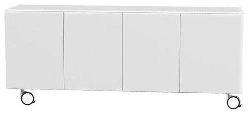 Arctic 40 Sideboard 4D, Vit/Hjul - Opbevaringsskabe