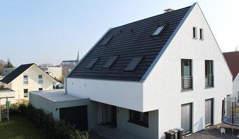 Steildach - Stehfalzgaube- innenliegende Dachrinne