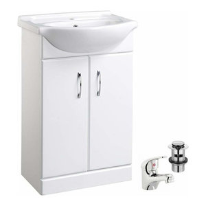 Consigned Vanity Unit With White Ceramic Basin and Chrome Finished Tap