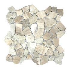 "12""x12"" Mixed Quartz Mosaic Tile"