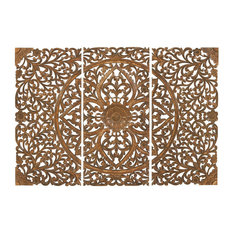 Brimfield & May - Wood Wall Plaque, 3-Piece Set - Wall Panels