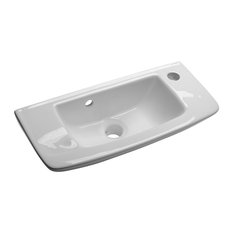 supply bathroom wall mount small vessel sink with overflow hole and single faucet hole