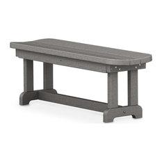 "Polywood Park 48"" Backless Bench, Slate Gray"