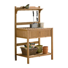 merry products potting bench with recessed storage potting benches
