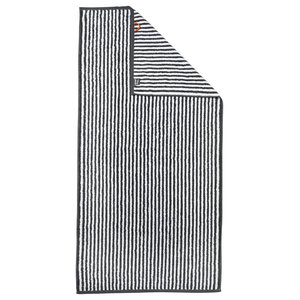 Stripes Beach Towel, Anthracite and White