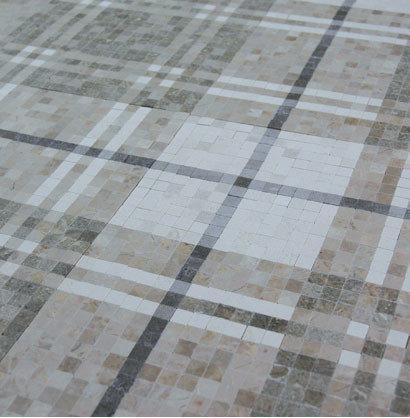 Stripe Plaid Mosaic Floor - Mosaic Tile