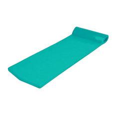California Sun Deluxe Oversized Unsinkable Foam Cushion Pool Float, Aquamarine