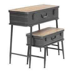 2-PC Urban Loft Trunk Table Set