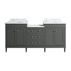 Charlton Gray Bathroom Vanity With Undermount Sink, 72""