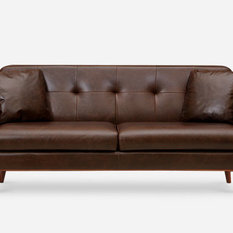 Castlery - Hanford Sofa Leather, Chocolate - Sofas