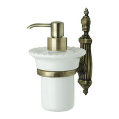 Ondine Bronze Liquid Soap Dispenser With Wall Attachment