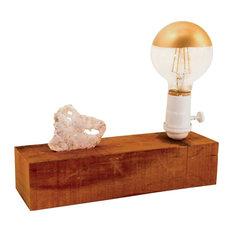 Vertical Horizon Geode Lamp