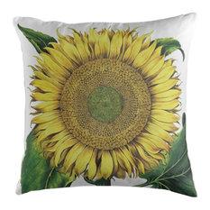 Sunflower Botanical Cushion, 45x45 cm