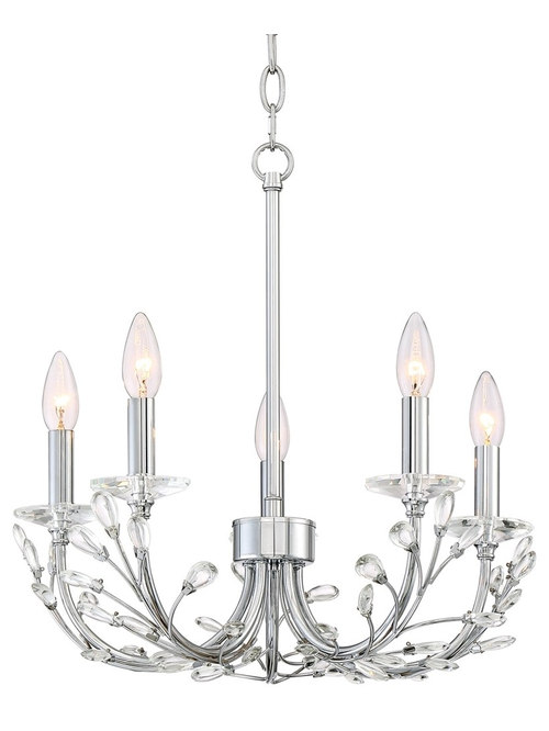 Vienna Full Spectrum 17 Wide Chrome And Crystal Chandelier