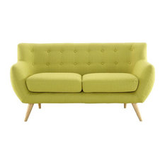 Wiley Upholstered Fabric Love Seat/Wheatgrass