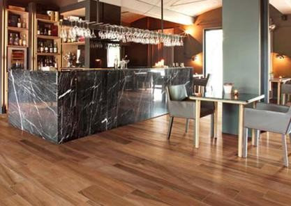 Hickory wood-look porcelain floor tile - Wall And Floor Tile - Hickory Wood-look Porcelain Tile Hickory Cherry, Hickory Fog