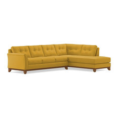 Marco 2-Piece Sectional Sofa, Mustard, Chaise on Right