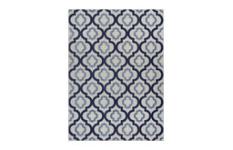 Dorado Illuminate Blue Modern Lattice Trellis Indoor Outdoor Area Rug DO-84