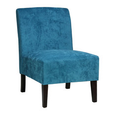 Chicco Blue Armless Accent Chair