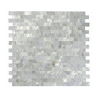 "12""x12"" Mother of Pearl Mosaic Backsplash Tile Tile, Single Sheet"