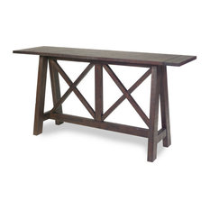 Progressive Vineyard Console Table, Distressed Root Beer
