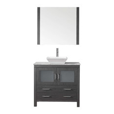 "Dior 30"" Single Bathroom Vanity Cabinet Set, Zebra Gray"