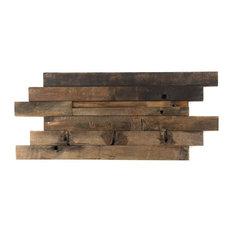 "Timber 11.81""x23.62"" Wood Mosaic Tile, Brown Beige"