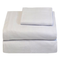 Heavyweight 100% Cotton Flannel Sheet Set Twin XL, White